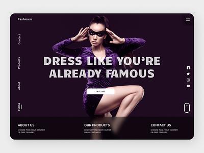 Fashion Landing Page ui design