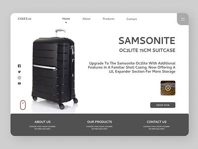 Suit Case Landing Page suitcase branding ui design