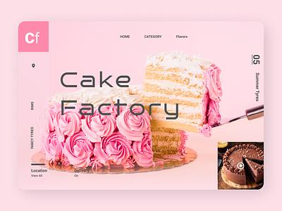 Online Cake Ordering Web Design clean typography art website flat web ux branding ui design