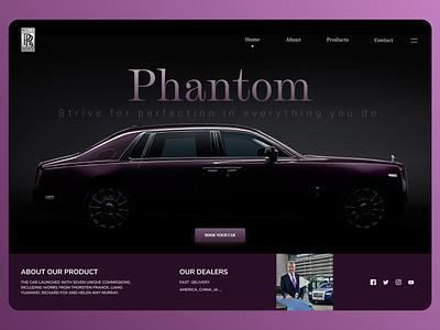 Online Cars minimal website web typography clean ux app branding ui design