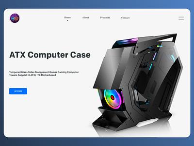 Computer Case website web typography clean ux branding ui design