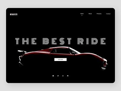 Cars Web Design minimal art website web typography clean ux branding ui design