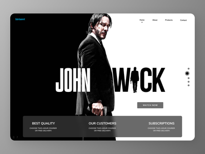 Actor persona minimal art typography website web clean ux ui branding design