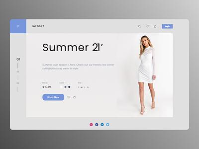 Women colthing new uiux online shop minimal website web ux clean branding design ui