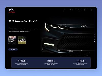 Cars Brands online shop new typography website web clean ux ui branding design