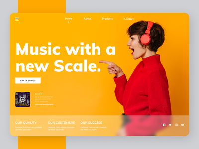 Music Site uiux new minimal design website ui web clean ux branding