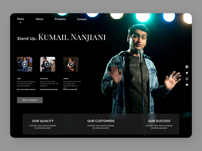 Motivational speaker uiux new typography design website web clean ux ui branding