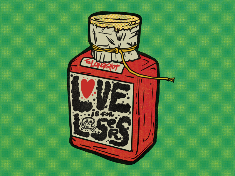 Love is for Losers mamut ipadpro procreate illustration music rock punk billie joe armstrong the longshot