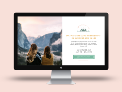The Gathering Camp - Landing Page Mockup