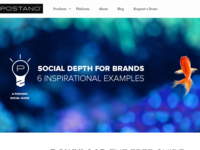 Postano Social Depth Landing — Version B