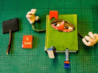 Billybigbook By Violaqang 400x300 book 3d character design
