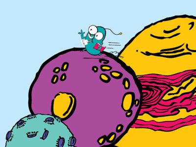 Sentio Running illustration character alien childrens book