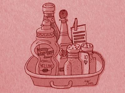 Burger Mates T-shirt t-shirt burger graphic illustration logo red