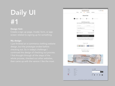 Daily UI #1 webdesign dailyui
