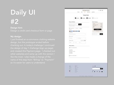 day 2 webdesign dailyui