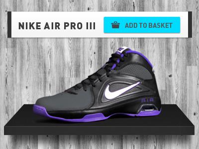 MadBasket product detail art direction web design basket sport