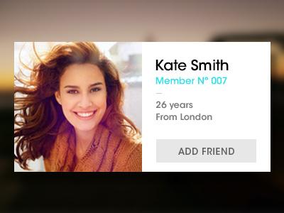 Profile  interfaz design social network web design interface design profile