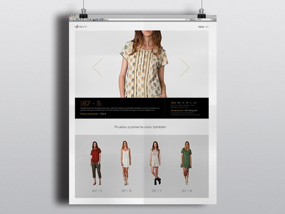 Product Page fashion artdirection brand clothing productpage gallery