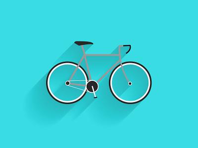 Flat Bike blue icon flat bike shadow