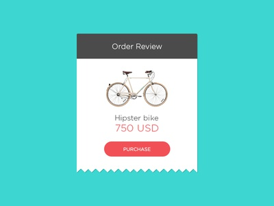 Order Review ecommerce bike ticket