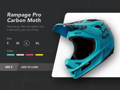 Motocross helmet page product challenge ui ux extreme motorbike sport product page helmet