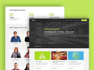 Company site corporative company team blog