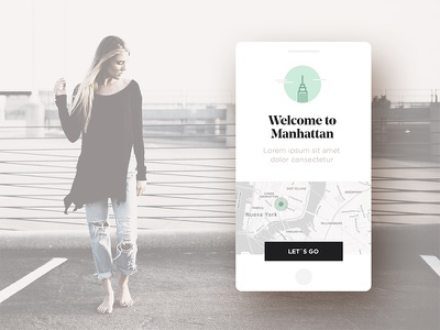 Have a nice trip concept mockup app travel
