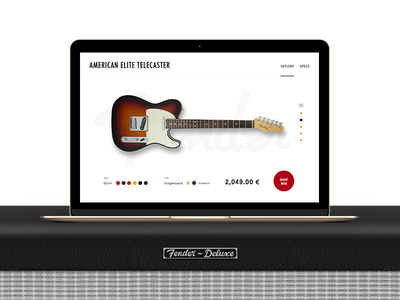Fender Telecaster product page concept product product page shop guitar fender music ux ui
