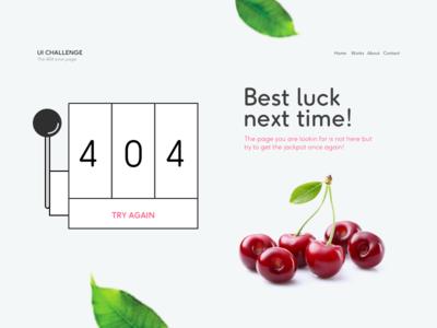 404 Page - WeeklyUI Challenge S02/W02 ui challenge leaves fruit jackpot 404 ui