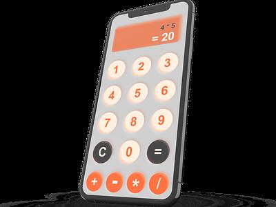 Neuomorphic Calculator retro neomorphic calculator 004 dailyui