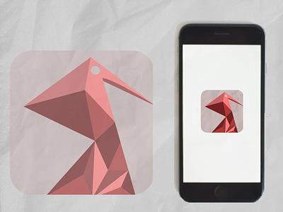 Origami App Icon vector origami app icon 005 dailyui