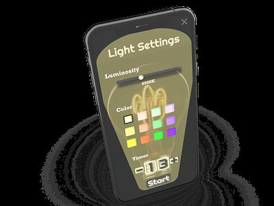 Light Settings Panel color picker dailyuichallenge settings 007 dailyui