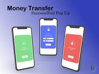 Success/Fail Pop Up for a Money Transfer static popup message 011 dailyui