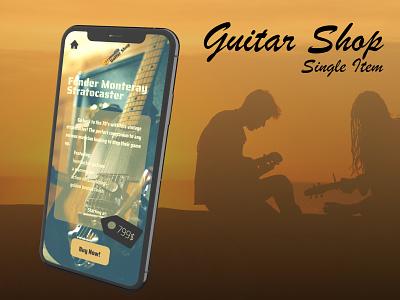 Guitar Item for Sale glassmorphic guitar ecommerce design 012 dailyui