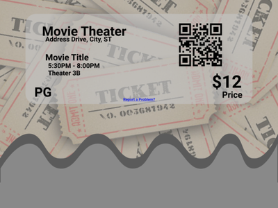Movie Theater Email Receipt movie ticket email receipt 017 dailyui