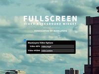 Fullscreen Video Background Widget
