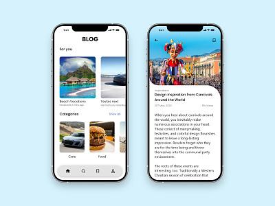 Blog Post app ux ui design