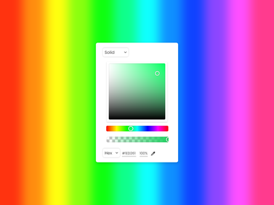 Color Picker minimal ui design