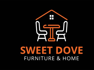 Real Estate and Home Furniture Logo kitchen logo home sweet home luxury decoration homedecor interiordesign furniture chair logo home funiture real estate logo design building logo home logo