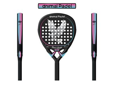 Eagle Padel Racket Print Ready Design racket padel padel racket sports shuttlecock sports design rackets design squash tennis racquetball badminton