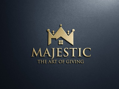 Majestic Logo building logo real estate logo home logo crown house crown logo lion logo m letter logo majestic
