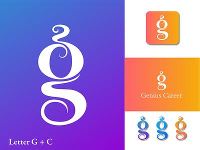 G and C Letter Logo clean logo creative logo modern logo minimalist logo flat logo text logo c logo g logo g and c logo gc logo letter logo