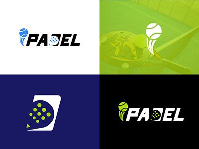 IPadel Racket Logo letter logo text logo logodesign padel design padel sports logo tennis badminton logo racket logo padel logo