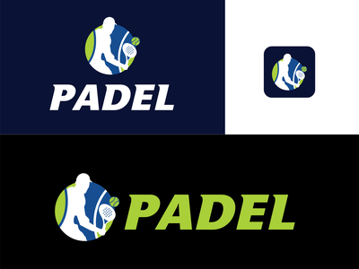 Padel Tennis Logo sports logo bull padel padel sport animal padel tennis logo