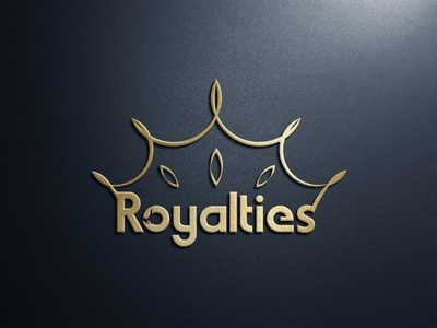 Royalties Logo fashion queen majestic crest luxury marketing pay