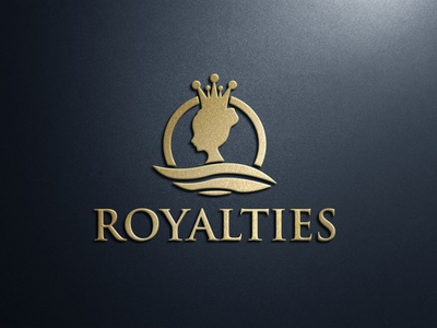 Royalties Fashion Logo luxury female crown logo majestic