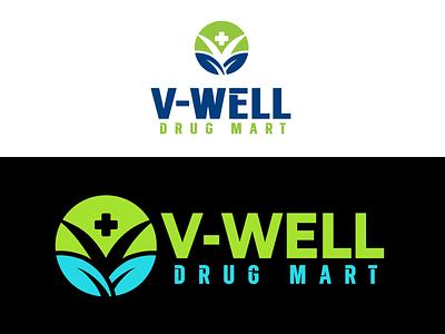 V Medical Pharmacy Logo hospital health v dna v well logo drug logo v letter medical care pharmacy medical logo