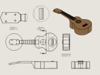 Functional SolidWorks Ukulele