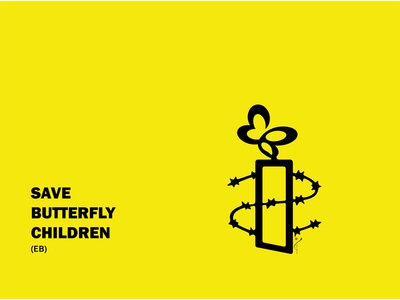 BUTTERFLY CHILDREN (EB) sanctions poster humanrights icon illustration