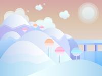 Lollipop landscape
